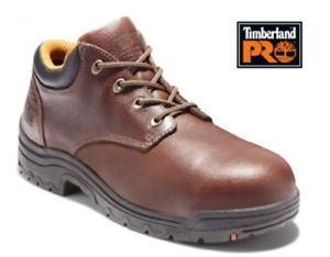 Timberland PRO Size 10.5M TM47028 Dark Brown, Men's, Alloy Steel Toe,  Oxford