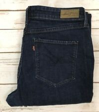Levi's 16/33 Womens Bold Curve Classic Boot Cut Dark Wash Jeans Denim