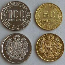 Peru 50 + 100 Soles 1979-1983 p273/283 unz.