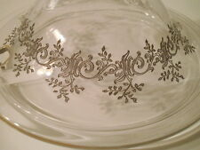 Antique BACCARAT Punch Bowl Lid RECAMIER Pattern