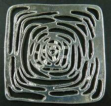 10pcs Tibetan Silver Nice Square Connectors 50x50x2mm 9181