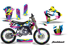 YAMAHA YZ 125 Graphic Kit AMR Racing # Plates Decal Sticker Part 91-92 FLBK