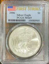 2006 $1 Silver Eagle First Strike, MS69, PCGS Certified