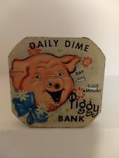 Very nice vintage Daily Dime Piggy Bank Register Bank