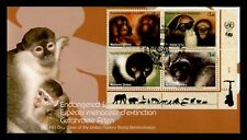 DR WHO 2007 UNITED NATIONS ENDANGERED SPECIES MONKEYS S/S FDC C202765