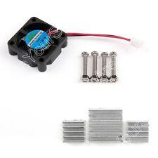 DC 5V Glacière Fan +  Aluminum Dissipateur Cooler Pour Raspberry Pi Pi2/3 B+ BS7