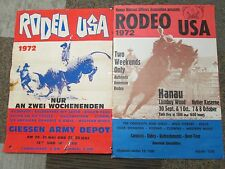 VINTAGE 1972 RODEO POSTER'S ONE IN GERMAN AND ONE IN ENGLISH