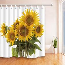 Sunflower bouquet Fabric Bathroom Shower Curtain-waterproof-180*180cm new