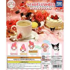 Takara Tomy Samrio My Melody and His Friends Perched Mascot Completed Set 5pcs