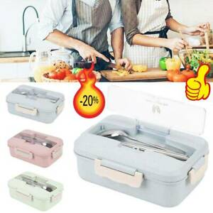3Compartments Lunch Box For Kids Adult Food Container Storage Bento Box