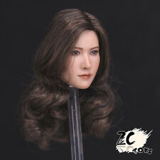 "Zctoys 1/6 Scale Brown Wig Asian Head Sculpt Model For 12"" Female Body Figure"