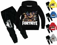 Jungen Fortnite Pullover Kinder Sportswear Kapuze Trainingshose Anzug 3-13 Jahre