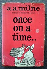 ONCE ON A TIME A A Milne 1962 Graphic Society FAIRY TALE DJ Dust Jacket CHILDREN