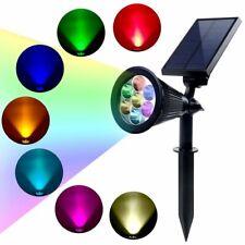 Solar Spot Lights Outdoor 7 LED Landscape Spotlight Decorative Waterproof Lamp