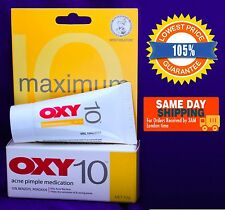 OXY 10 Acne Pimple Treatment 10% Benzoyl Peroxide 10g Maximum Strength Free ship