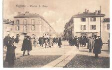 cartolina Voghera piazza S. Bovo viaggiata 1908 ottima animatissima super