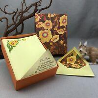 Color Spree Vintage Stationery Set Yellow Flowers by Pratt & Austin