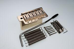 "All Brass Tremolo Bridge Complete Install Kit Fit Vintage 2-1/16"" block 42mm"