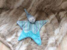Kaloo   Teddy Bear Blue Stripe Star  Blankie Comforter