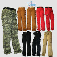Mens Casual Fit Trousers Slim Style Camouflage Army Military Pants