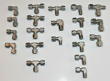 "(21 Lot) NOS 316ss Fittings Swagelok Etc, 1/4"" & 3/8"" Sizes"