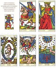 Tarot of Marseille 1751 BURDEL Card Deck 6 Languages MINI Pocket 4.5x7.5cm 1.8х3