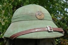 North Vietnamese Army Pith Sun Helmet Blue Interior Nva Vc Viet Cong Vietnam War