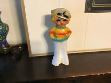 1930s Authentic Mae West carnival chalkware sailor girl statue dated 1935