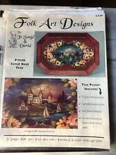 Folk Art Pattern Packet by Jo Sonja &David Jansen-Unsed-Canal Boat Tray-New