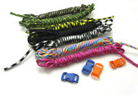 12pcs Camping Hiking Survival Paracord Rope 7 Core Strand 2.4M buckle