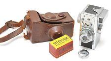 Steky Vintage Spy Camera w/ Stekinar Anastigmat 3.5 / 25 mm Lens, cap & Case
