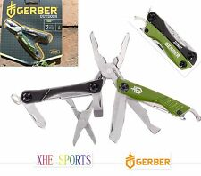 Gerber Dime Multi Tool Plier Gerber Scissors Knife Camping 31-001132 Green