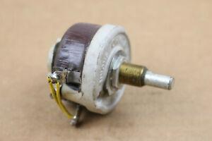 "Ohmite #0156 500 Ohm Vintage Rheostat Ceramic Potentiometer 1/4"" Shaft USA 25W"