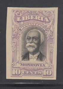 Liberia # F13 IMPERF COLOR TRIAL in VIOLET 1903 Registration Set