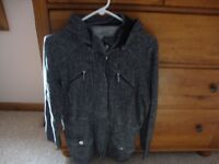Womens STYLE & SPORT black zip up hooded sport jacket