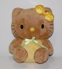 "Hello Kitty 9"" Plush Animal Cat Yellow Bow Daisy Green Ribbon Stuffed Sanrio"