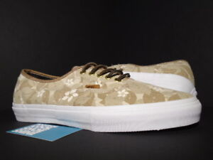 2014 VANS AUTHENTIC S SYNDICATE 8FIVE2 FLORAL 852 NATURAL BEIGE TAN WHITE NEW 12