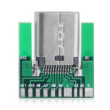 USA New DIY 24pin USB 3.1 Type C Female Socket Connector SMT type with PCB