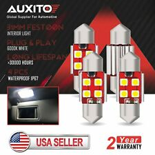 AUXITO 31mm Festoon LED Interior License Plate Dome Light Bulb DE3175 3022 12V