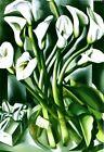TAMARA DE LEMPICKA - Cala Lilies - Canvas Print Poster FRAMED