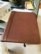 Vintage Brown Leather Coach Portfolio Classic Bi Fold Writing Notepad