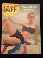 Vintage March 1953 Laff Pinup Magazine