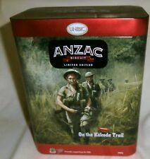 LIMITED EDITION UNIBIC ANZAC BISCUIT TIN ON THE KOKODA TRAIL