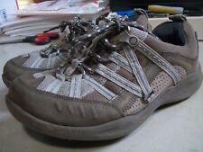 Clarks Womens Size 8M Wave Hiker Shoes Brown Gray-Blue Trim