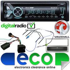VAUXHALL ASTRA H Sony MP3 USB DAB BLUETOOTH AUTO STEREO VOLANTE KIT Grigio