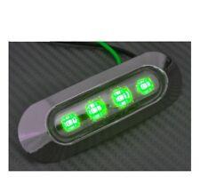 4 x 12V Feux  LED Vert contour de phare chromé pour CAMION REMORQUE CARAVANE
