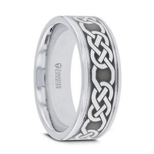 PALATINE Tungsten Comfort Fit Wedding Ring Celtic Pattern Laser Engraved-6mm-8mm