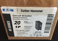 New Eaton Cutler-Hammer 20 Amp Breakers 1-Pole 20A BR120 BR12010CP Contractor