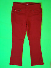 DG2 {Size S} Red Comfort Waist Bootcut Faux Pocket Jeans NWT!
