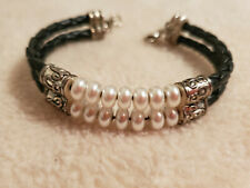 Premier Designs UPTOWN GIRL Bracelet Faux Pearl Leather